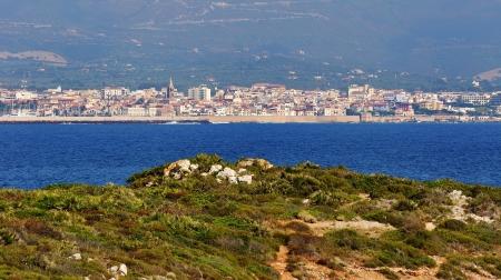 Pohled na Alghero, Sardinie, Itálie