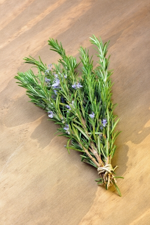Rosemary on a old wooden table