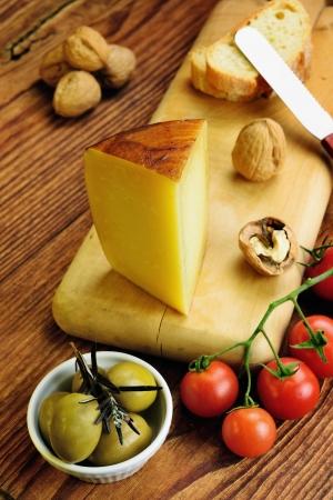 Pecorino toscano, italský ovčí sýr typický pro Toskánsko Reklamní fotografie