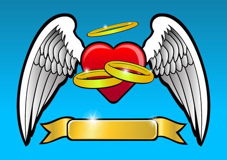 tatouage ange: Mariage
