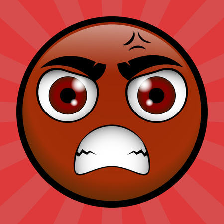 scold: yellow emoticon very angry on you