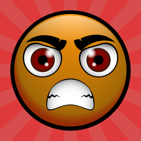 scold: yellow emoticon angry on you