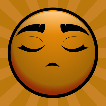 insulted: yellow emoticon offend on you