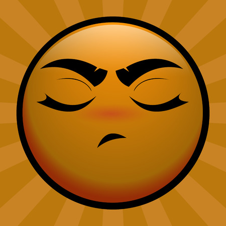 insulted: emoticon amarillo ofender a usted