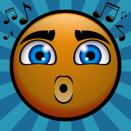 whistling: yellow emoticon whistling for you