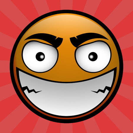 scold: yellow emoticon crazy angry on you Illustration