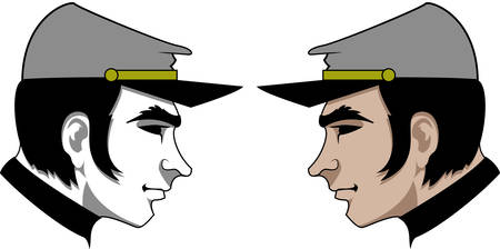 prowess: Logo with the face of Yankee soldier Illustration