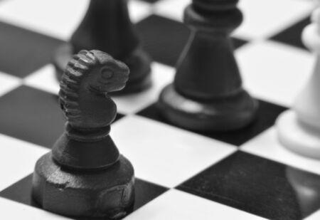 Schachmatt: Checkmate - Fotografie, die den Verlust von Schach Lizenzfreie Bilder