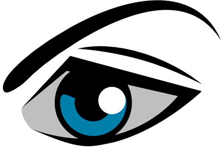 ophthalmologist: Graphics to use for the logo or on the packaging Illustration
