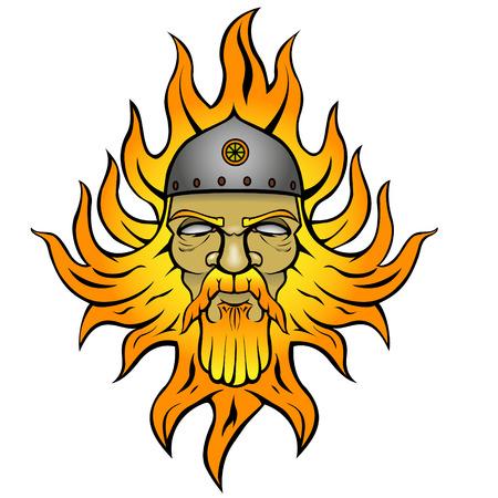 pagan: Svarog: Pagan god of fire Illustration
