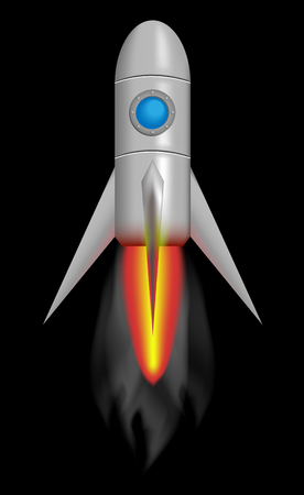 conquete: Spacecraft shaped like a rocket