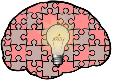 ingenuity: A symbol of ingenuity and creative thinking in business Illustration