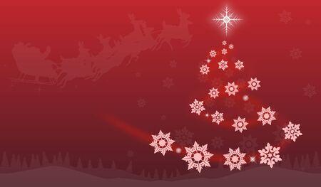 gold christmas background: Christmas background with Christmas tree