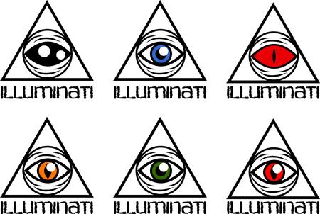 ojo de horus: Un conjunto de símbolos simples de todo el ojo que ve