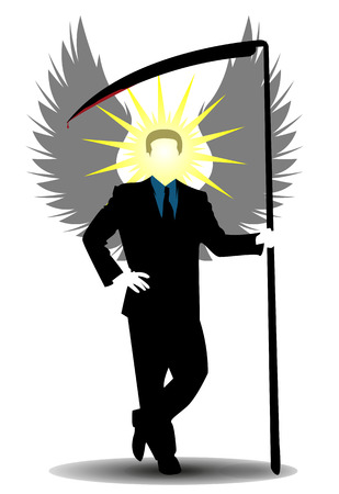 enlightened: Angel of death as a businessman of souls