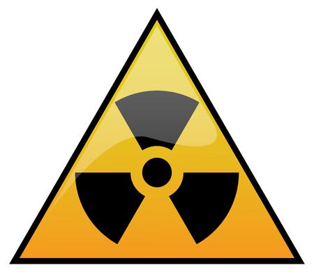 radioactivity: Simple radiation, radioactivity sign. Eps 10