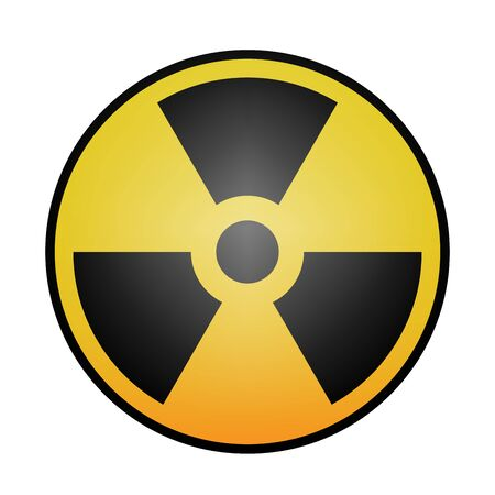 radioactivity: Simple radiation, radioactivity sign. Eps 10