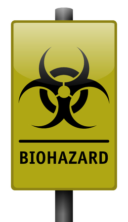 hazardous material: Vector illustration of realistic biohazard sign