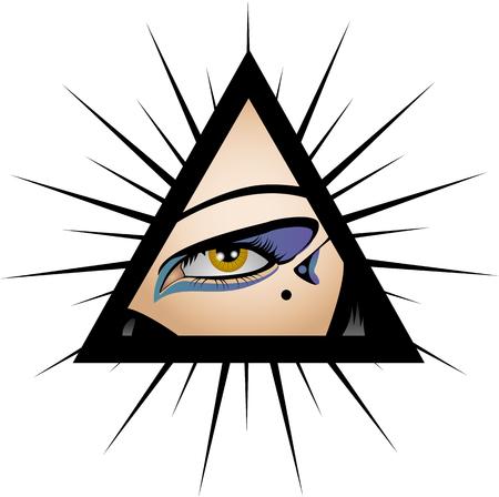 cyberpunk: sexy cyberpunk female eye, seeing everything