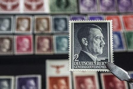 Philately - Postage stamp with Adolf Hitler