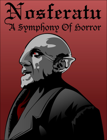 A classical horror Nosferatu: Symphony of Horror Illustration