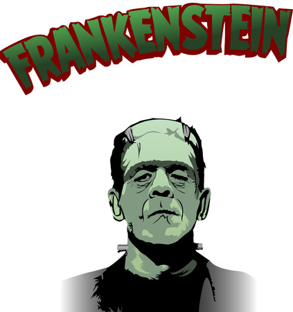 Vecto illustration of  Dr. Frankenstein monster Redakční