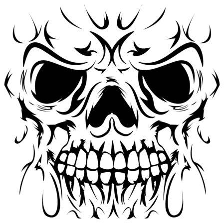 illustration of skull face Çizim