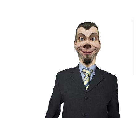 invincible: Positive attitude to life business man