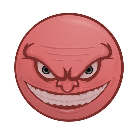 Illustration of Very Angry Emoticon
