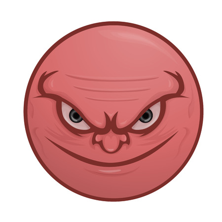 vicious: Smiling , nasty , vicious face Illustration