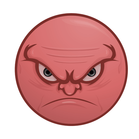 Illustration of nasty, vicious face