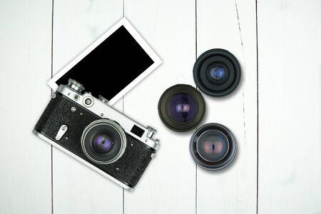 Camera, Photo and lens Stok Fotoğraf
