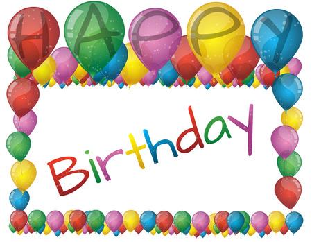 Vector Illustration Of Birthday Baloons
