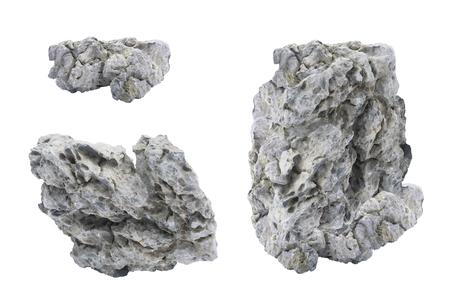 Gray stones on a white background Stok Fotoğraf