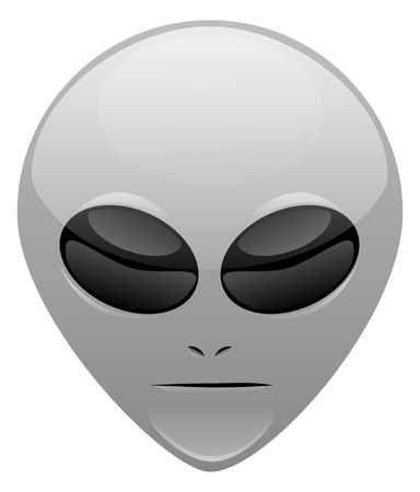 A gray alien vector head for website use Stock Illustratie