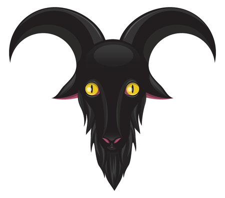 Black goat to use on every satanic page as icon or logo Çizim
