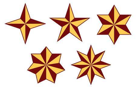 Stars set - five stars four to eight arms. Stars for every wish.
