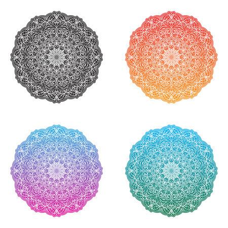 Mandal set. Basic version and design of three color variants