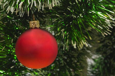 Picture of Christmas decorations on the Christmas tree. Picture perfect for a Christmas card or background. Stock Photo