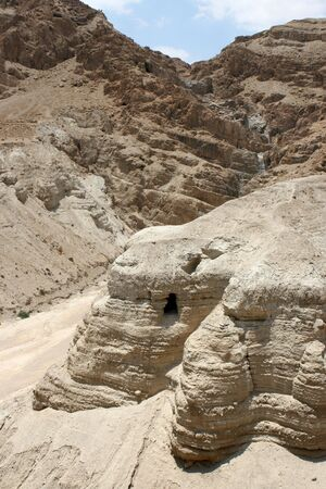 scribes: The Dead Sea Scrolls were found in clay jars throughout this cave in Qumran National Park, Israel.