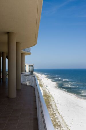 Perdido Key Beach, Florida viewed from the balcony of a luxury condominium. Stock Photo - 4866159