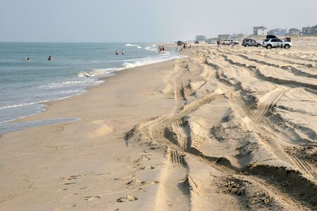 Parts of the North Carolina Outer Banks have no roads and people must drive their vehicles on the beach to access their homes.