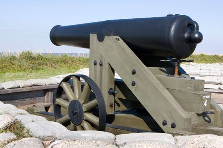 Smoothbore muzzles-loading cannon used during the United States Civil War