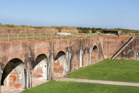 defended: Fort Morgan, built in 1834, defended Mobile Bay, Alabama as part of the coastal defense system. Stock Photo