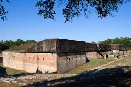 pensacola: Advanced Redoubt of Fort Barrancas in Pensacola Naval Air Station, Florida was an element of the protective network of the navy yard and is now part of the Gulf Islands National Seashore, a U.S. National Park.