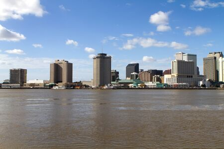 New Orleans, Louisiana skyline and cityscape viewed from across the Mississippi River. Stock Photo - 12474175