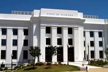 montgomery: Office building of the attorney general of the state of Alabama located in the state capitol Montgomery, Alabama  Editorial