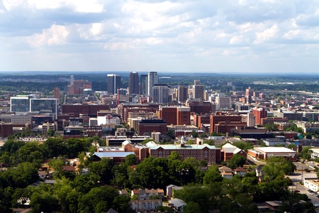 Skyline view of the city of Birmingham, Alabama looking toward the north