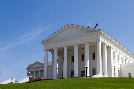 Virginia Statehouse building in Richmond, Virginia, USA against a blue sky background  Stock Photo - 13862033
