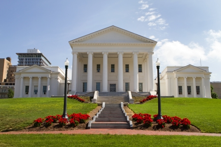 Virginia Statehouse and lawn in downtown Richmond, Virginia, USA
